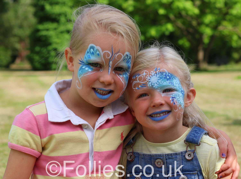 Face Paint Butterflies  Follies Face & Body Art